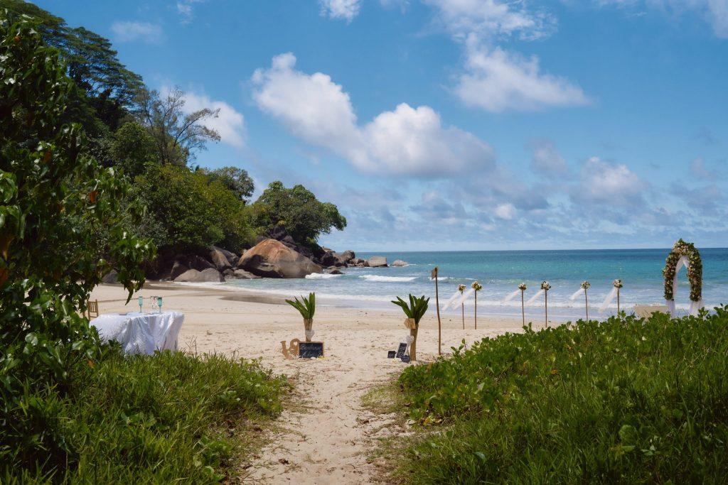 Beach wedding setup for destination weddings photographer